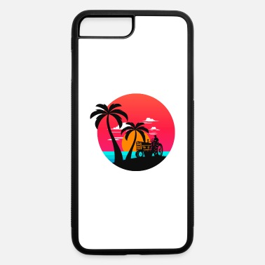 Tractor Tree Christmas Farmer Farmer Tractor Farm beach sun sunset palms gift - iPhone 7 & 8 Plus Case