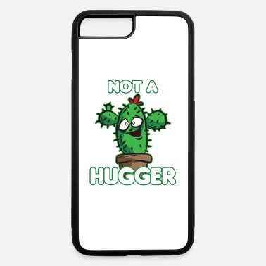 Cactus Cartoon NOT A HUGGER Funny Cactus Cartoon Humor - iPhone 7 & 8 Plus Case