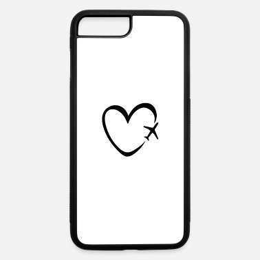 Funny Travel Funny Travel Plane Heart - iPhone 7 & 8 Plus Case