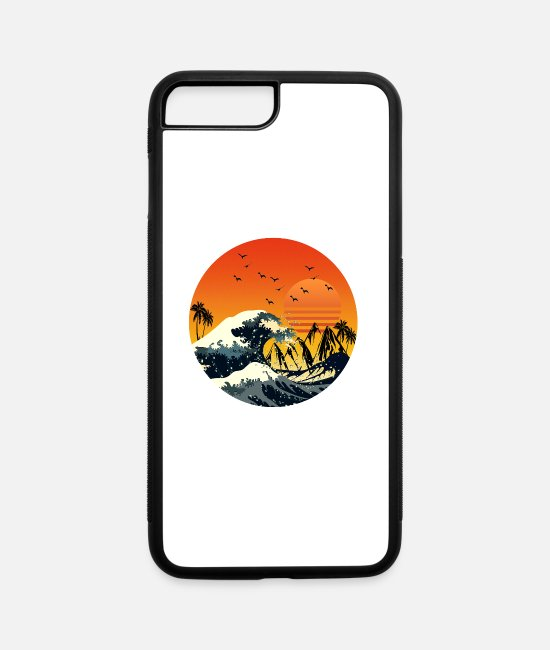 Wave iPhone Cases - Good vibes - iPhone 7 & 8 Plus Case white/black