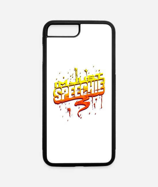 Speech Therapist iPhone Cases - Just Speechie Speech Therapist Pathologist Gift - iPhone 7 & 8 Plus Case white/black