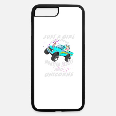 Chubby Unicorn Just A Girl Who Loves Monster Trucks And Unicorns - iPhone 7 & 8 Plus Case
