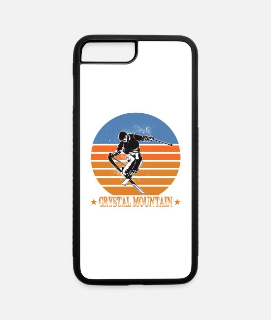 Freestyle iPhone Cases - Crystal Mountain Ski Resort Winter Sport Vacation - iPhone 7 & 8 Plus Case white/black