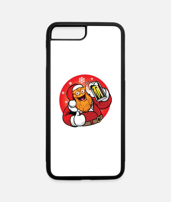 Red iPhone Cases - Red Wear Drink Beer, Merry christmas Gritty 2021 - iPhone 7 & 8 Plus Case white/black