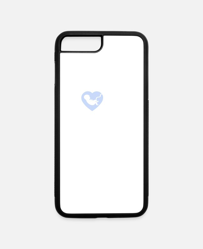 Prolife iPhone Cases - Love Pro Life Gift Anti Abortion Choose Life Print - iPhone 7 & 8 Plus Case white/black