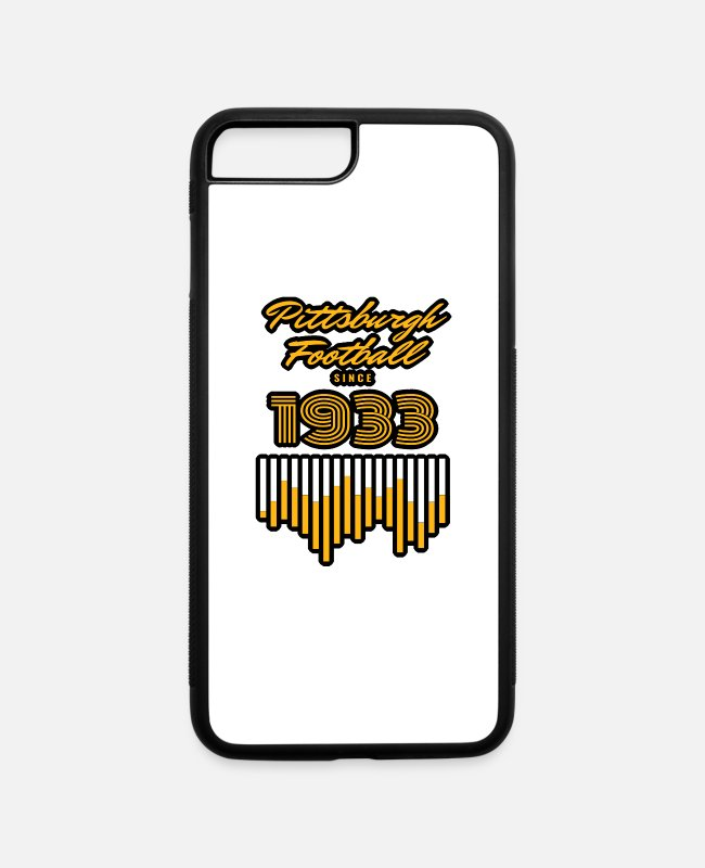 National iPhone Cases - Pittsburgh Football 1933 Vintage Gifts - iPhone 7 & 8 Plus Case white/black