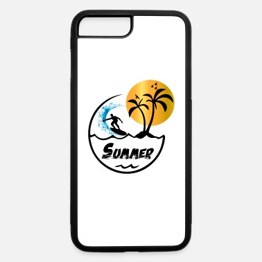 Palm Trees Grab Surfing T-Shirt Summer Sunny Palm Trees Sunset Tee - iPhone 7 & 8 Plus Case