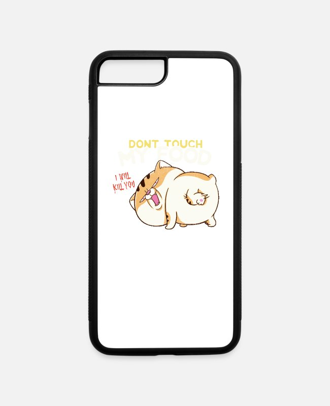 Christmas iPhone Cases - Don't touch it! My food - always hungry - iPhone 7 & 8 Plus Case white/black