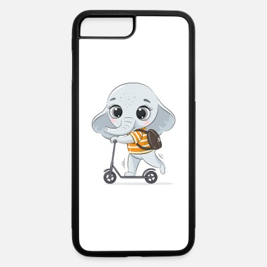 Scooter Elephant on Scooter - iPhone 7 & 8 Plus Case