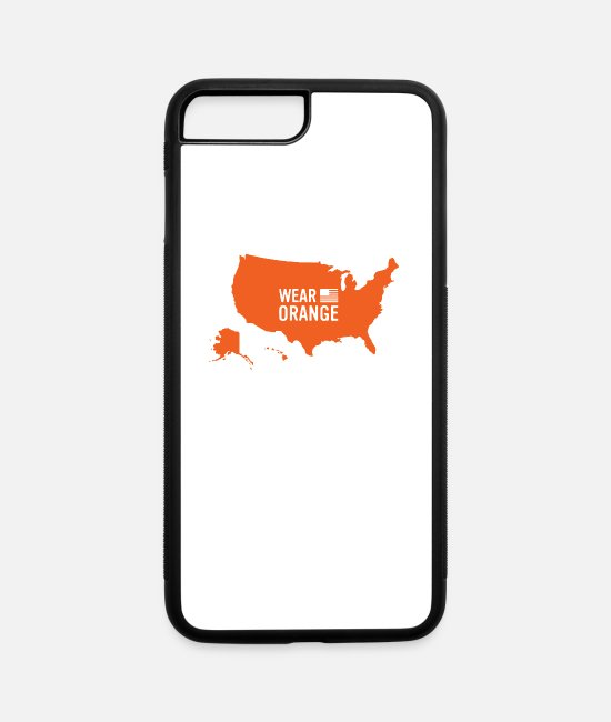 Wear Orange News iPhone Cases - wear orange - iPhone 7 & 8 Plus Case white/black