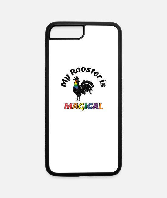 Gay Pride iPhone Cases - Gay Pride Parade Magical Rooster Funny LGBTQ - iPhone 7 & 8 Plus Case white/black