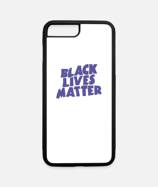 Affair iPhone Cases - Black Lives Matter - Proud Awareness Black Power - iPhone 7 & 8 Plus Case white/black