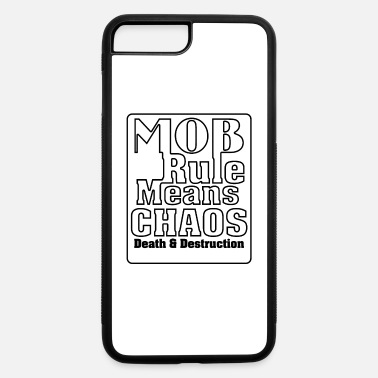 MOB Rule Typography Graphic Art - iPhone 7 & 8 Plus Case