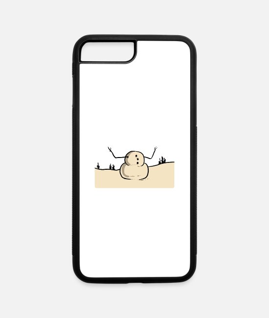 Training iPhone Cases - Snowman Funny Head Motivated Person Gift - iPhone 7 & 8 Plus Case white/black