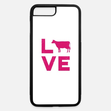 Beef LOVE Cows Vintage Dairy Farmer Typography - iPhone 7 & 8 Plus Case