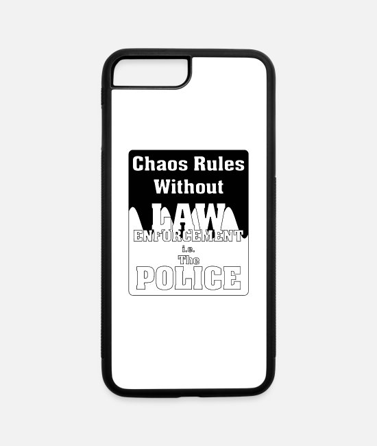 Order iPhone Cases - Chaos Rules Wthout Law - iPhone 7 & 8 Plus Case white/black