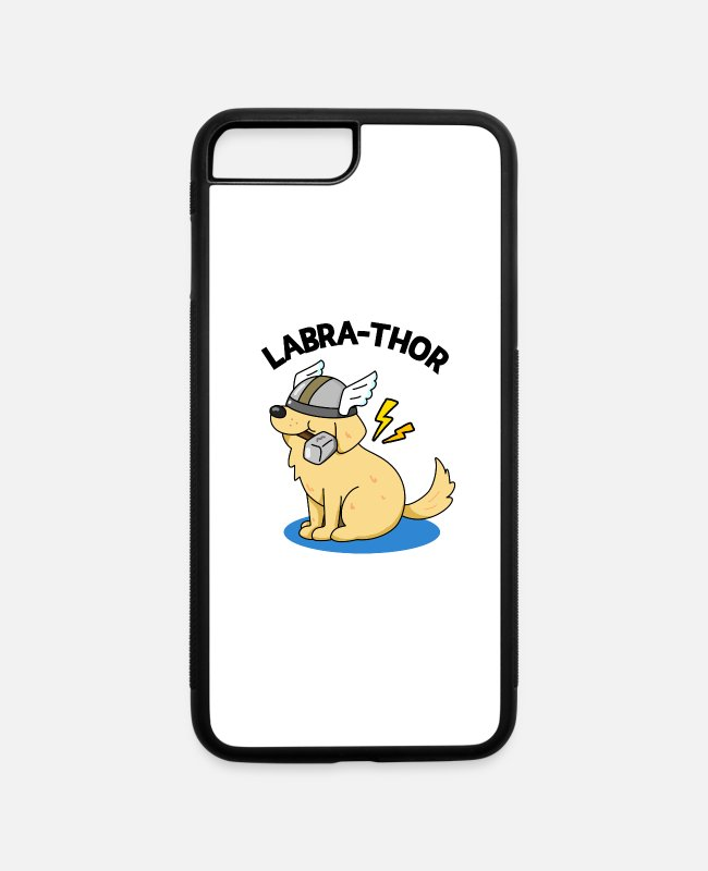 Thor iPhone Cases - Labra-Thor Cute Labrador Dog Pun - iPhone 7 & 8 Plus Case white/black