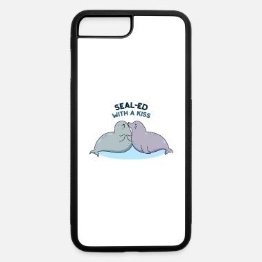 Wif Sealed Wif-a Kiss Cute Sea Lion Seal Pun - iPhone 7 & 8 Plus Case