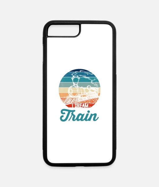 Training iPhone Cases - I Don't Snore I Dream I'm A Train - iPhone 7 & 8 Plus Case white/black
