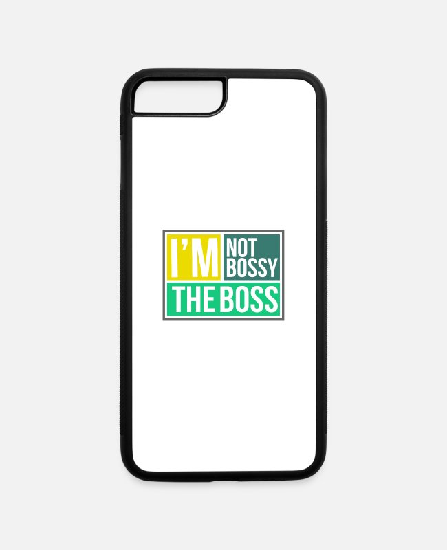 Master iPhone Cases - I'm Not Bossy The Boss - Bossy - iPhone 7 & 8 Plus Case white/black