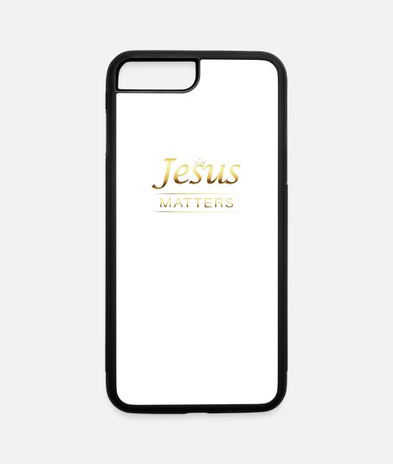 Matter iPhone Cases - Jesus' Life Matters. Jesus Christ Savior Vintage C - iPhone 7 & 8 Plus Case white/black