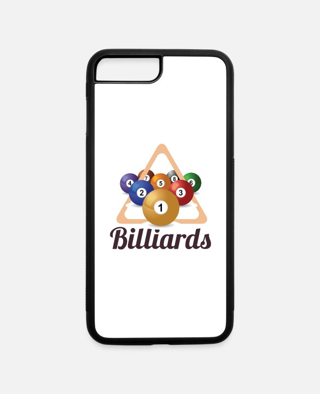 Ball iPhone Cases - Billiards With Billiard Balls - iPhone 7 & 8 Plus Case white/black