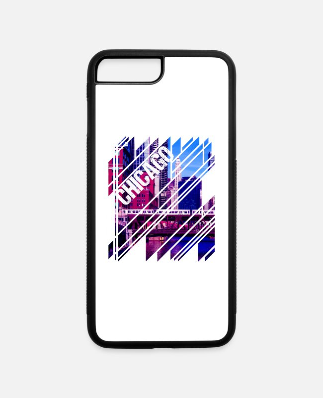 South Side iPhone Cases - Chicago Mosaic - iPhone 7 & 8 Plus Case white/black
