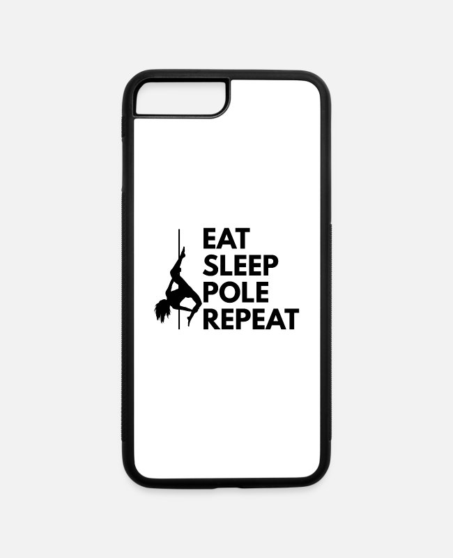 Pole Dance iPhone Cases - Pole Dancing Quote Design for poledancer - iPhone 7 & 8 Plus Case white/black