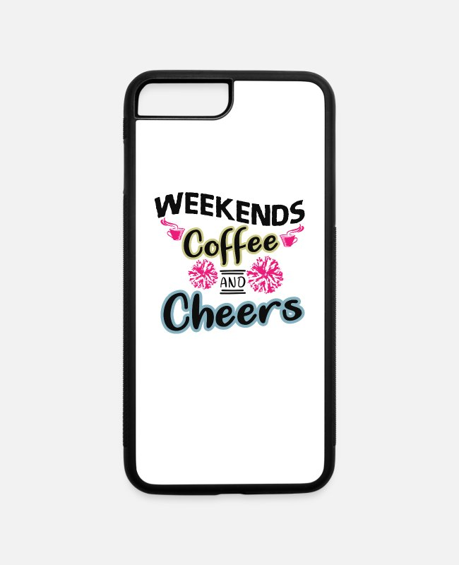 Training iPhone Cases - Weekend Coffee and Cheers - iPhone 7 & 8 Plus Case white/black