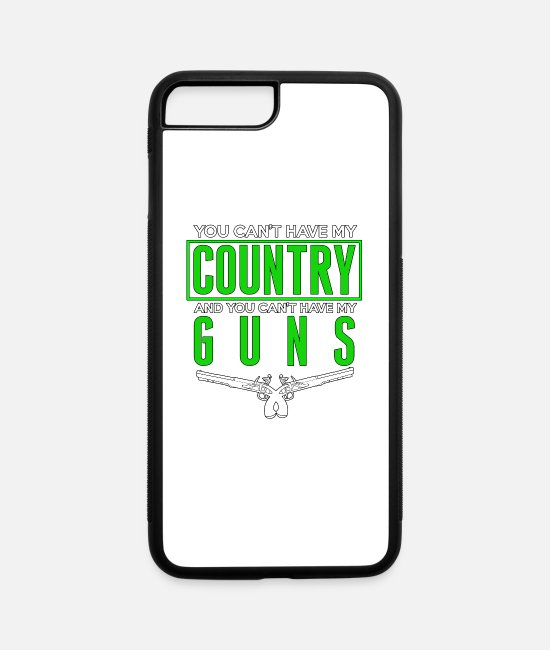 Gun iPhone Cases - You Can't Have My Country and Guns - Total Basics - iPhone 7 & 8 Plus Case white/black
