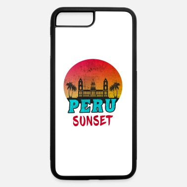 South America Peru Sunset Vintage / Gift South America - iPhone 7 Plus/8 Plus Rubber Case