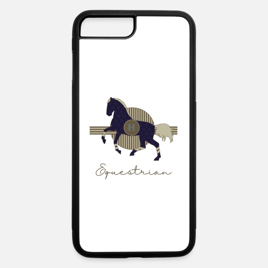 Jumping Spot iPhone Cases - horse galop HORSES equestrian - iPhone 7 & 8 Plus Case white/black