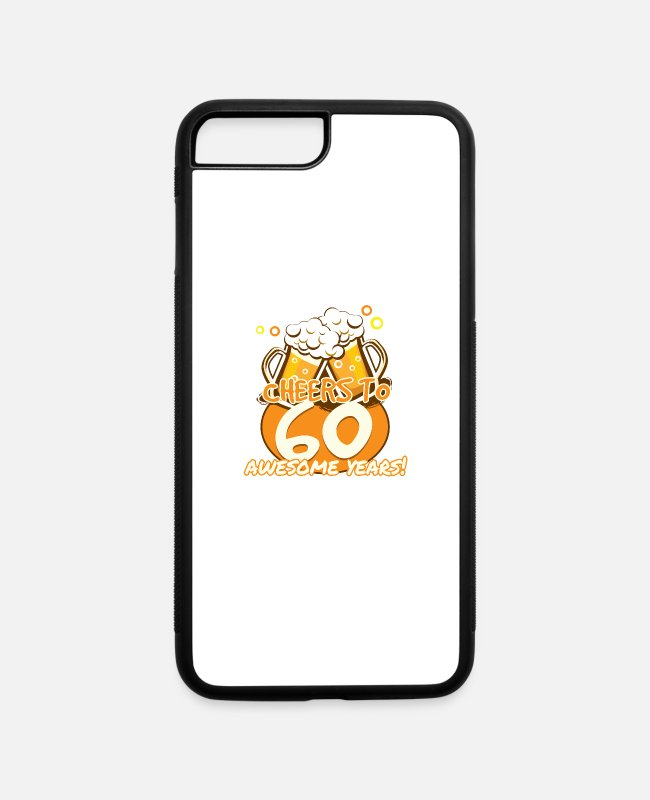 Hipster iPhone Cases - 60th Birthday - iPhone 7 & 8 Plus Case white/black