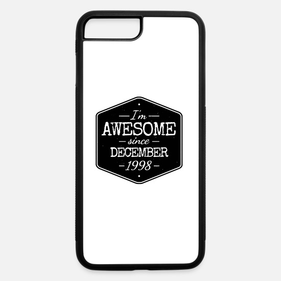 Year Of Birth iPhone Cases - AWESOME SINCE DECEMBER 1998 - iPhone 7 & 8 Plus Case white/black