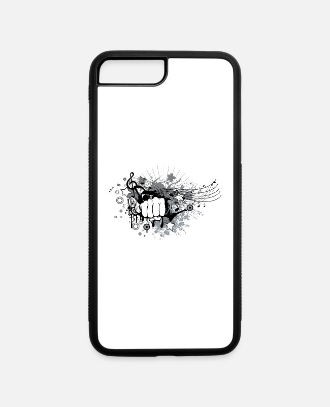 Music Notes iPhone Cases - Punch Rock - iPhone 7 & 8 Plus Case white/black