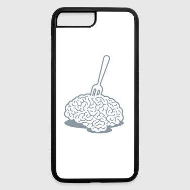 A Brain With A Fork - iPhone 7 Plus/8 Plus Rubber Case