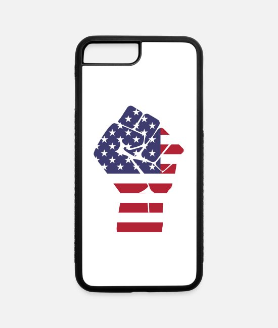 Politician iPhone Cases - fist america - iPhone 7 & 8 Plus Case white/black