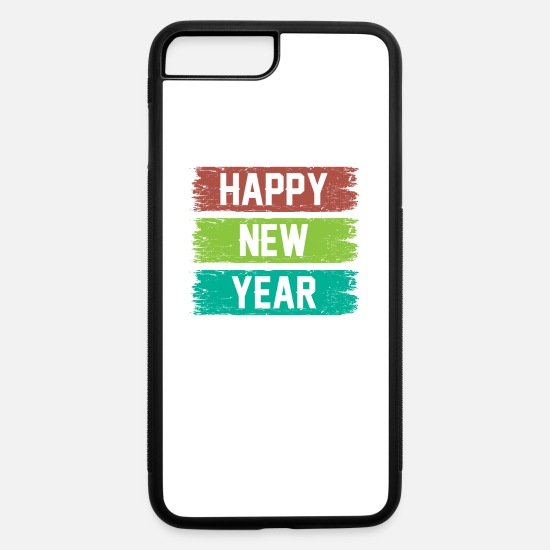 Gift Idea iPhone Cases - Happy New Year Party Gift Idee - iPhone 7 & 8 Plus Case white/black