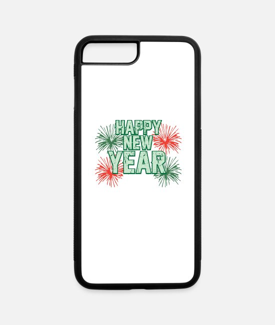 Missile iPhone Cases - HAPPY NEW YEAR - iPhone 7 & 8 Plus Case white/black