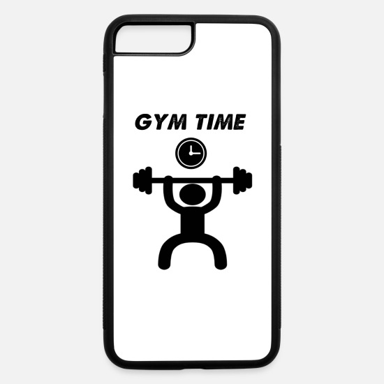 Time iPhone Cases - gym time - iPhone 7 & 8 Plus Case white/black