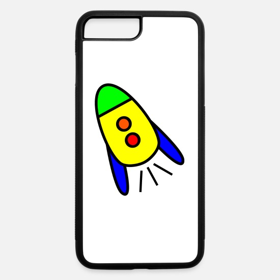 Nasa iPhone Cases - rakete rocket space shuttle ufo raumschiff mond mo - iPhone 7 & 8 Plus Case white/black