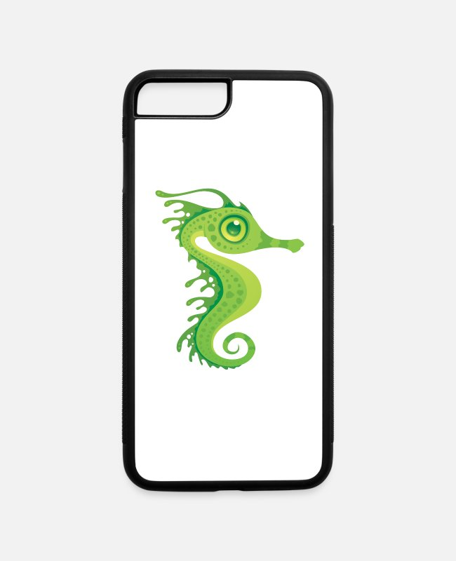 Sea Dragon iPhone Cases - Leafy Sea Dragon Seahorse - iPhone 7 & 8 Plus Case white/black