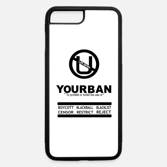 Design iPhone Cases - UR BAN Yourban - iPhone 7 & 8 Plus Case white/black