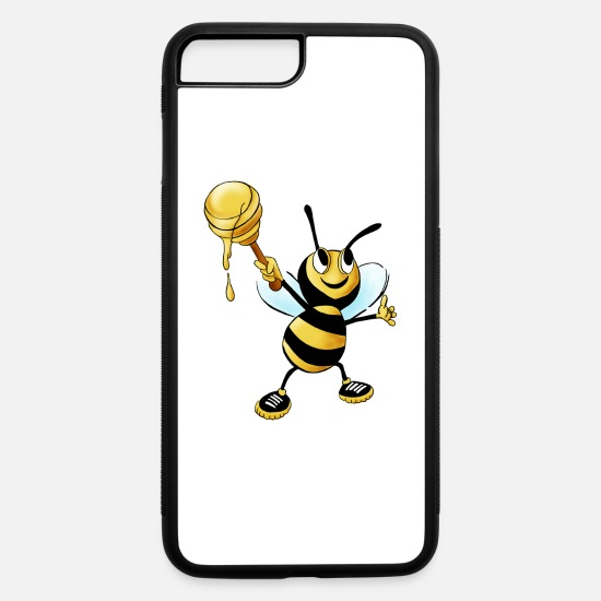 Honey Bee iPhone Cases - honey bee - iPhone 7 & 8 Plus Case white/black