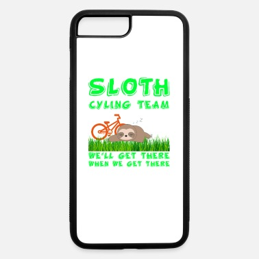 Cycling Sloth Cycling Team Funny Design for Cyclists and B - iPhone 7 & 8 Plus Case