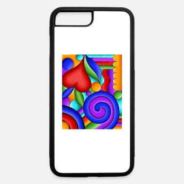 Graphic Art Geometric shapes graphic pattern - iPhone 7 & 8 Plus Case