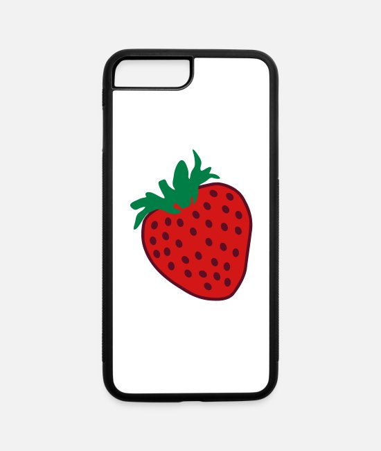 Heart iPhone Cases - Strawberry Love - iPhone 7 & 8 Plus Case white/black