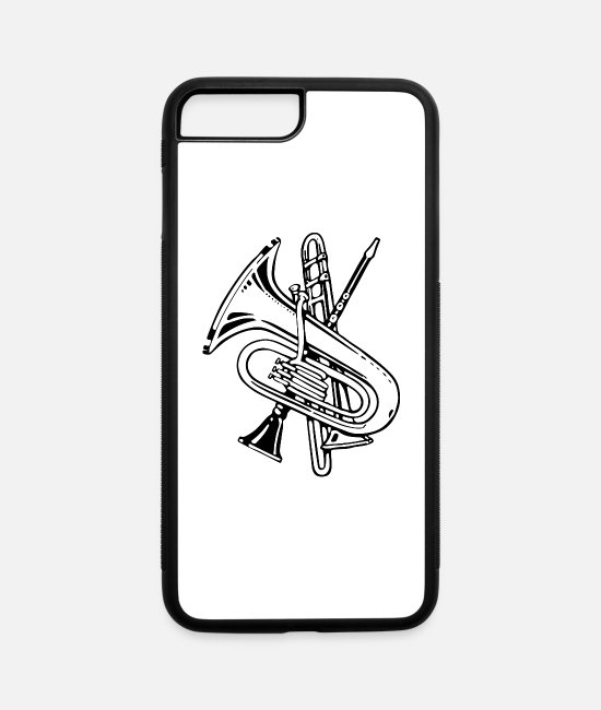 Wind iPhone Cases - Wind Instruments Improved - iPhone 7 & 8 Plus Case white/black