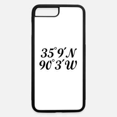 City Of Memphis Memphis Coordinates - iPhone 7 & 8 Plus Case