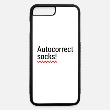 Mobile Phone Autocorrect Socks text message SMS Smartphone - iPhone 7 & 8 Plus Case